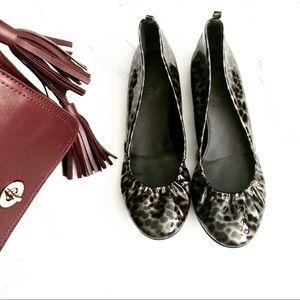 J Crew Tortoise Patent Leather Flats Animal Print